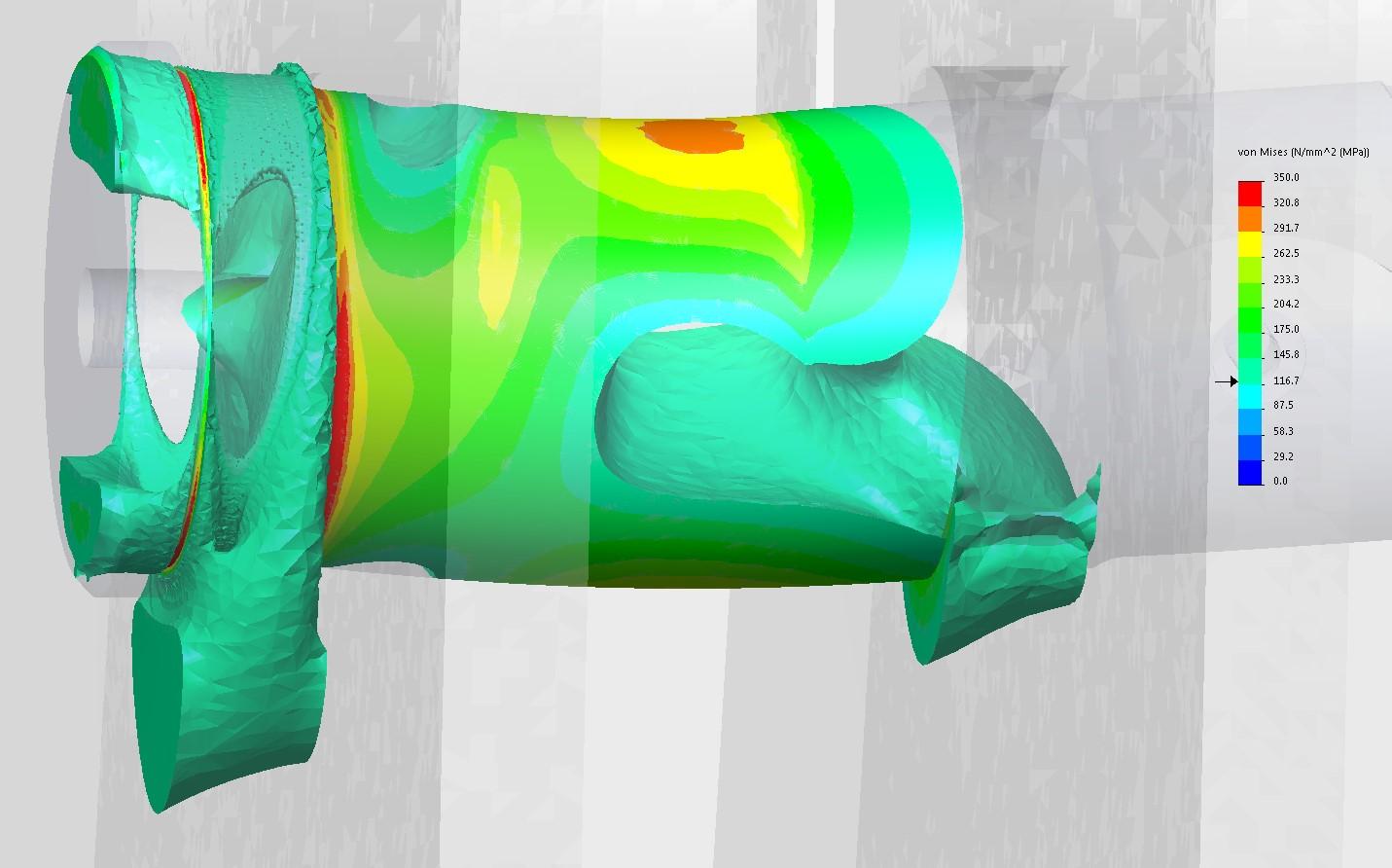 Nichtlineare Simulation einer Bolzenverbindung